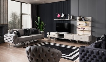inegöl mobilyasısı Dolce Duvar Ünitesi (Ekru)