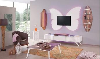 inegöl mobilyasısı Kelebek Duvar Ünitesi
