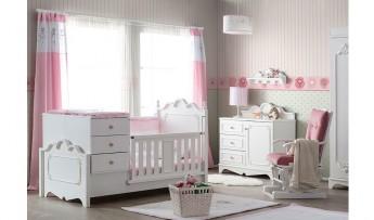 inegöl mobilyasısı Flower Bebek Odası Pembe