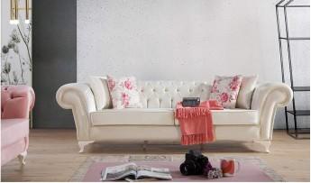 inegöl mobilyasısı Arya Chester Koltuk Takımı (3+3+1)