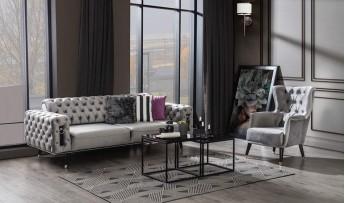 inegöl mobilyasısı Bella Koltuk Takımı-Lila (3+3+1)