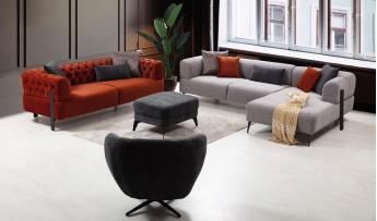 inegöl mobilyasısı Cratos Köşe Koltuk Takımı - (KÖŞE+3+1)