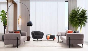 inegöl mobilyasısı Cratos Koltuk Takımı (3+3+1)
