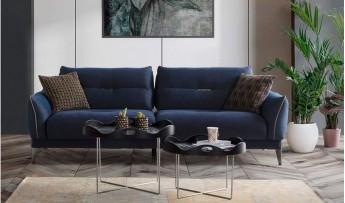 inegöl mobilyasısı Cross Koltuk Takımı-Mavi (3+3+1)