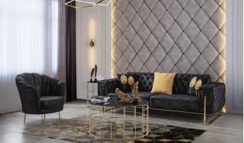 inegöl mobilyasısı Elegans Koltuk Takımı (3+3+1)