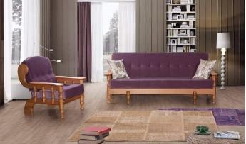 inegöl mobilyasısı Mürdüm İskandinav Koltuk Takımı (K-1) 3+2+1