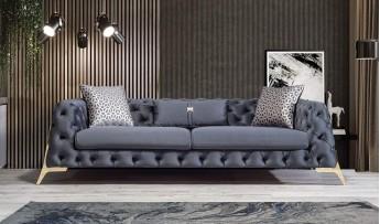 inegöl mobilyasısı Lila Koltuk Takımı-Antrasit (3+3+1)