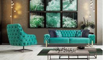 inegöl mobilyasısı Laguna Koltuk Takımı (3+3+1)