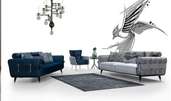 inegöl mobilyasısı Çizgi Koltuk Takımı (3+3+1)