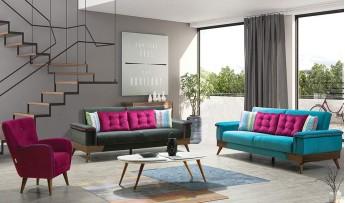 inegöl mobilyasısı Nikita Koltuk Takımı (3+3+1)