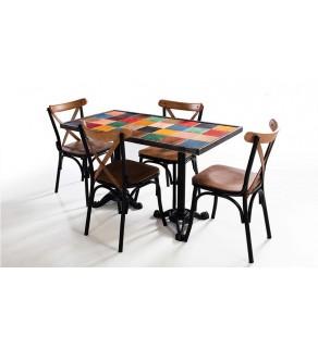 Demir Ayaklı Mutfak Masası