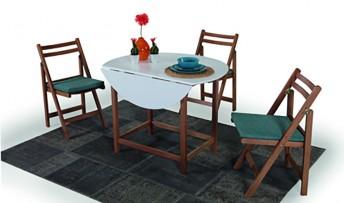 inegöl mobilyasısı Doha Katlanır Mutfak Masası Takımı (2070)