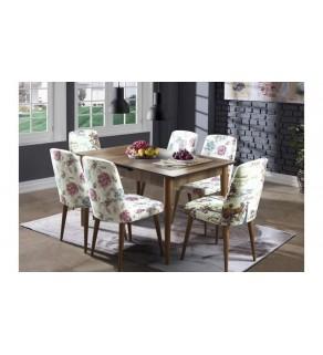 Retro Masa +6 Sandalyeli