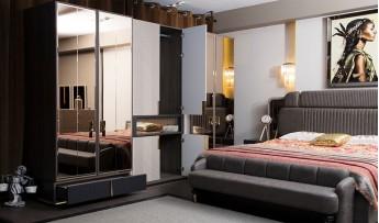 inegöl mobilyasısı Cura Yatak Odası Takımı (Bazalı)