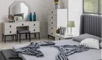 inegöl mobilyasısı Defne 6 Kapılı Yatak Odası Takımı (Bazalı)