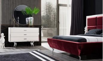 inegöl mobilyasısı Dolce Yatak Odası Takımı-Ekru