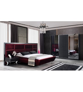 Dolce Yatak Odası Takımı (Siyah)