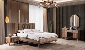 inegöl mobilyasısı İpek Yatak Odası Takımı (Bazalı)