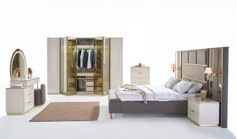 inegöl mobilyasısı Kapadokya Yatak Odası Takımı (Bazalı)