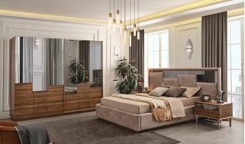 inegöl mobilyasısı Kapris Yatak Odası Takımı (Bazalı)