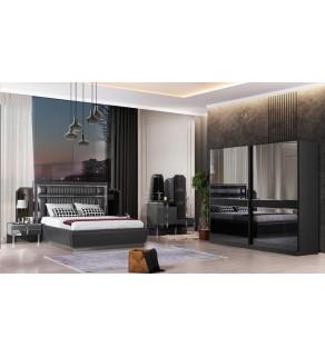 Lara Yatak Odası Takımı (Siyah)
