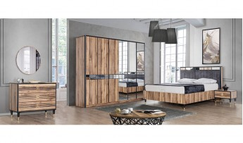 inegöl mobilyasısı Linea Yatak Odası Takımı (Bazalı)