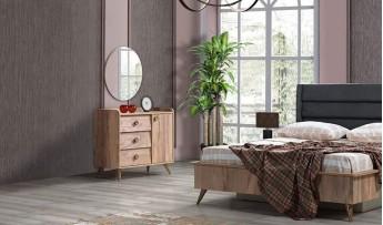 inegöl mobilyasısı Lucas Yatak Odası Takımı (Bazalı)