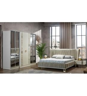Matrix Yatak Odası Takımı-Beyaz (Bazalı)