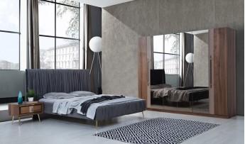 Pera Yatak Odası Takımı (Ceviz)
