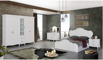 inegöl mobilyasısı Şah Yatak Odası Takımı (Beyaz)