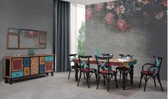 inegöl mobilyasısı Ala Yaşam Odası Takımı
