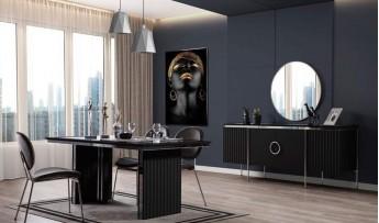 Bianca Yaşam Odası Takımı-Siyah-(TV' Li)