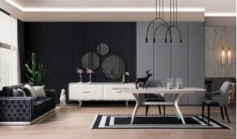 inegöl mobilyasısı Dolce Yemek Odası Takımı (Ekru)