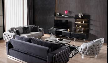 inegöl mobilyasısı Dolce Duvar Ünitesi (Siyah)