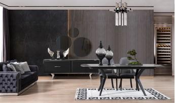 inegöl mobilyasısı Dolce Yemek Odası Takımı (Siyah)