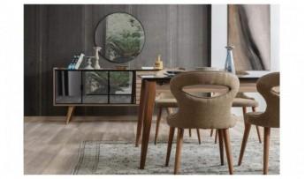 inegöl mobilyasısı Klas Yemek Odası Takımı(Tv li)