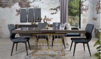 inegöl mobilyasısı Matrix Yemek Odası Takımı (Antrasit)