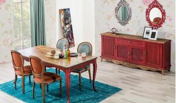 inegöl mobilyasısı Mercan Yemek Odası Takımı