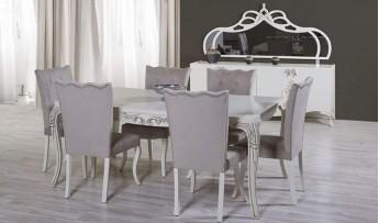 inegöl mobilyasısı Şehzade  Avangart Yemek Odası Takımı (Tv'li)